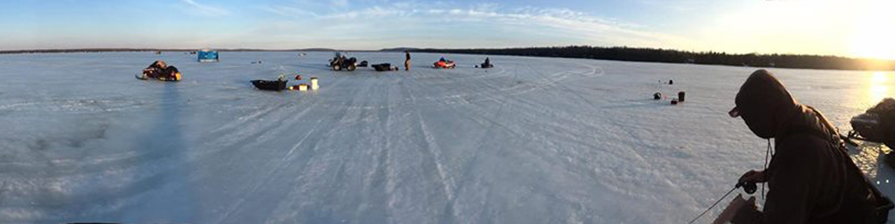 Guided Ice Fishing on Lake Gogebic